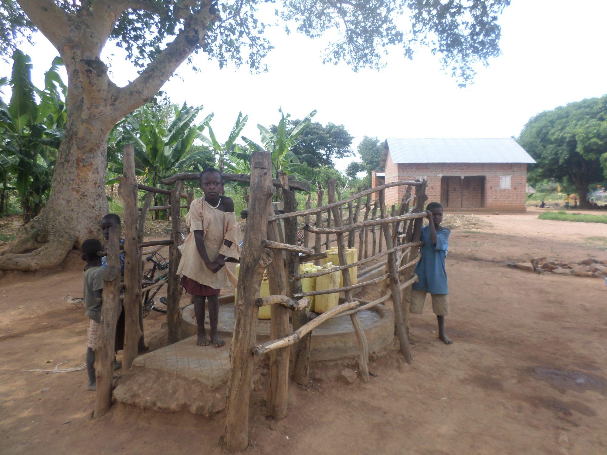A Rehabilitated and well maintained borehole in Lwamboga, Kaliro