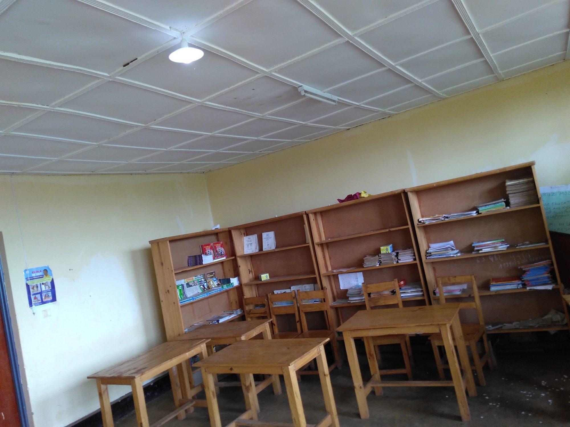Light in classroom